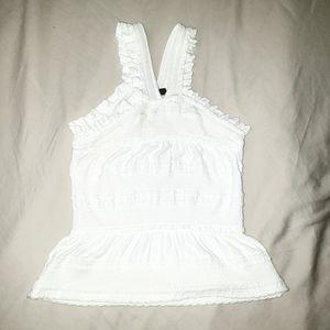 BCBGMAXAZRIA White Crochet Style Cami
